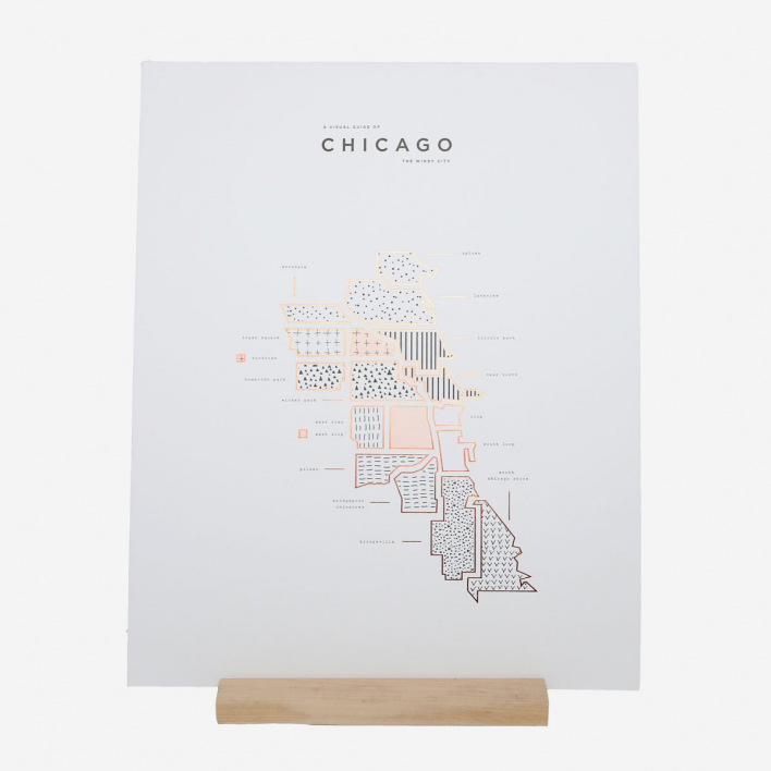42 Pressed Co. Visual Guide Chicago Letterpress Druck