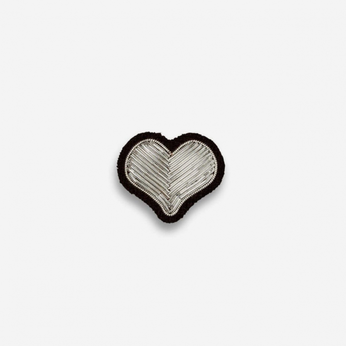 Macon & Lesquoy Brooch Heart Silver