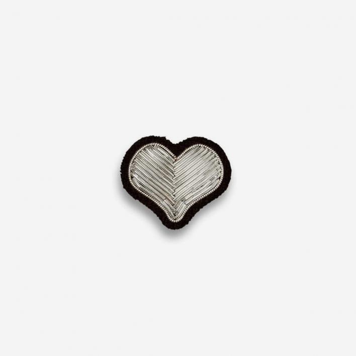 Macon & Lesquoy Brosche Herz Silber