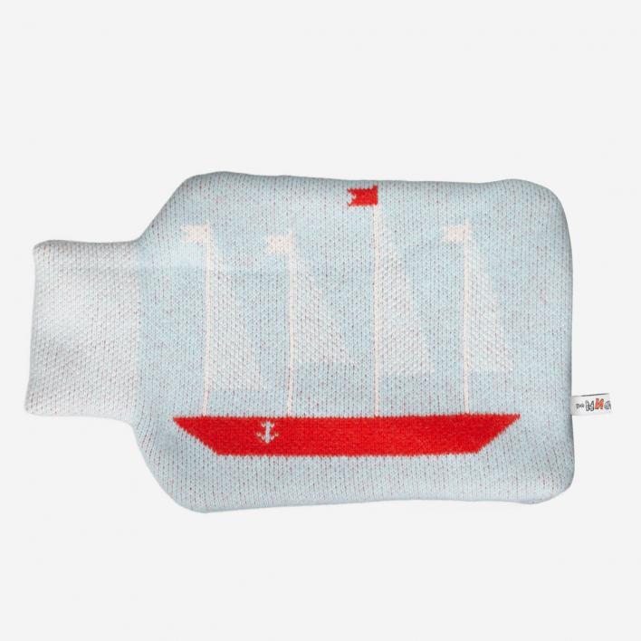 Donna Wilson Wärmflasche Boat - Blue Red