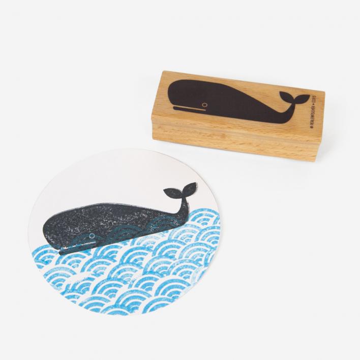 Perlenfischer Wal Stempel