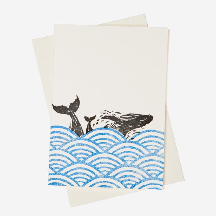Herr Pong Wal Vertikal Grußkarte