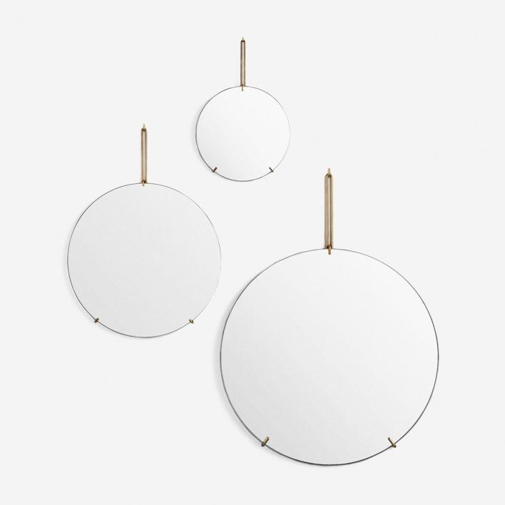Moebe Wall Mirror Brass 30 cm
