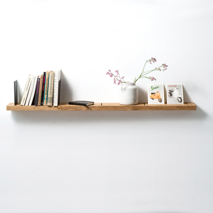 Weld & Co Wall Rack - Oak Small - L: 90 cm Light Weight Construction Small - L: 90 cm | Light Weight Construction