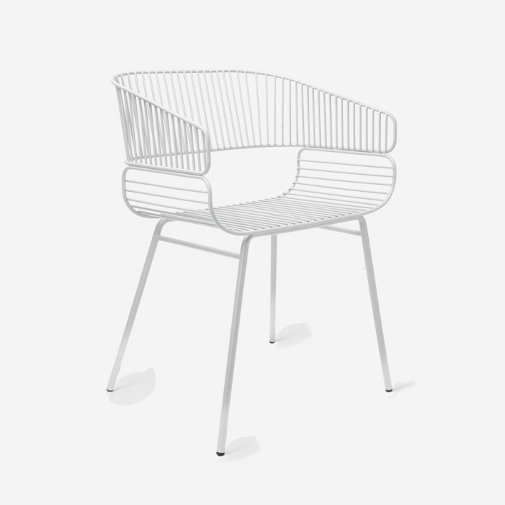 Petite Friture Trame Chair for Inside and Outdoor White White