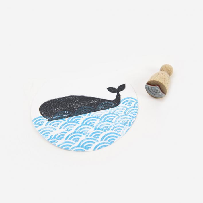 Perlenfischer Welle Stempel