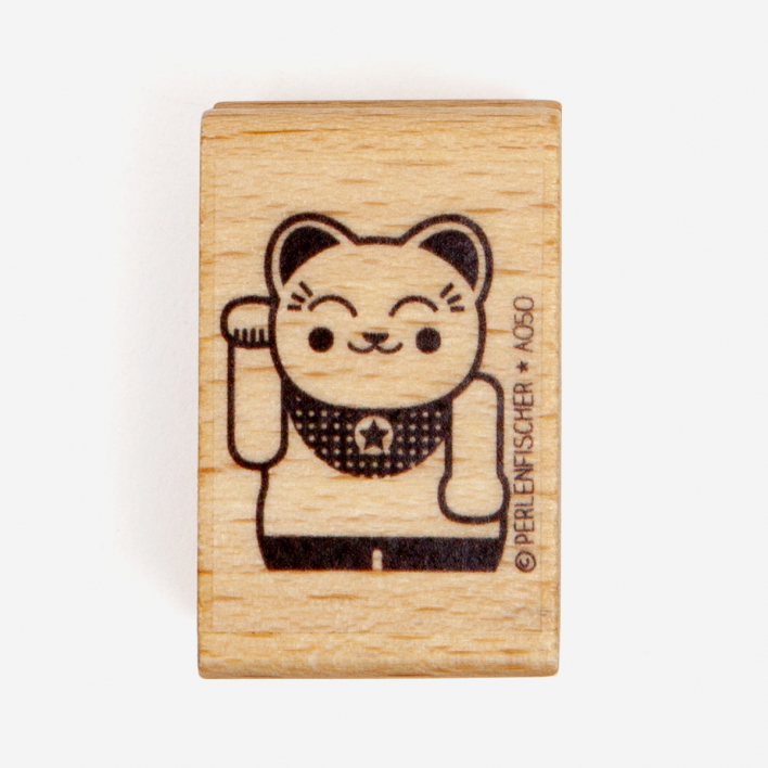 Perlenfischer Lucky Cat Stamp