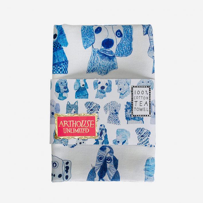 Arthouse Unlimited Geschirrtuch Blue Dogs