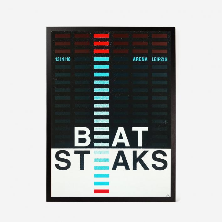 Rainbow Beatsteaks Screenprint Gigposter Black Frame Black Frame