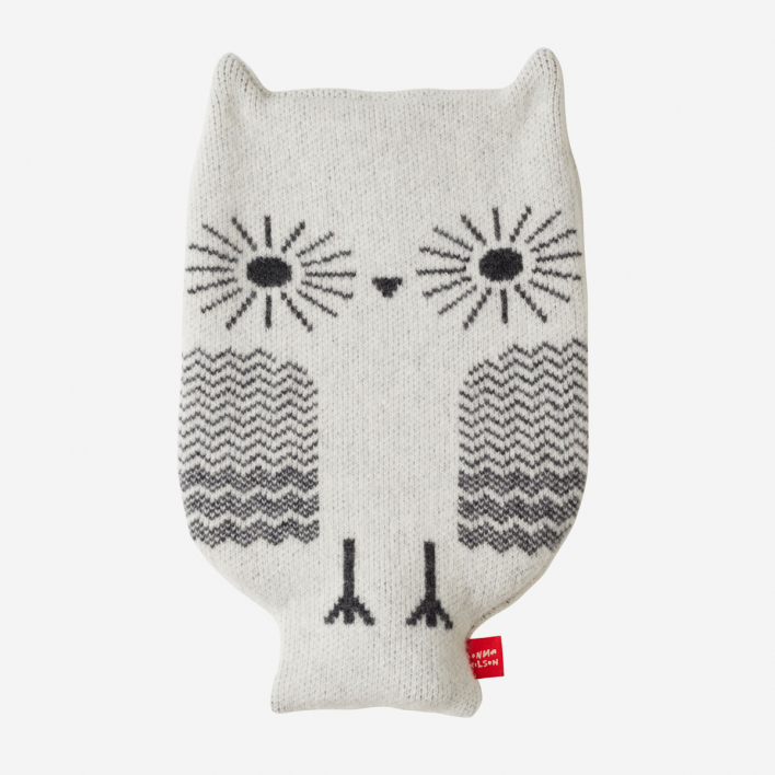 Donna Wilson Hot Water Bottle Owl - White