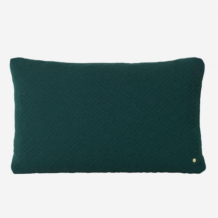 ferm LIVING Quilt Kissen XL - Dark Green