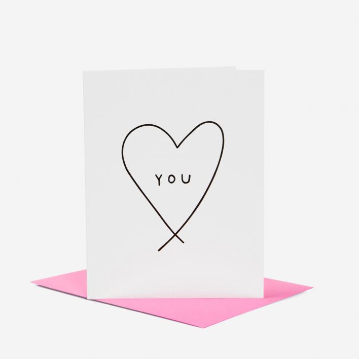 Ashkahn You Heart Grußkarte