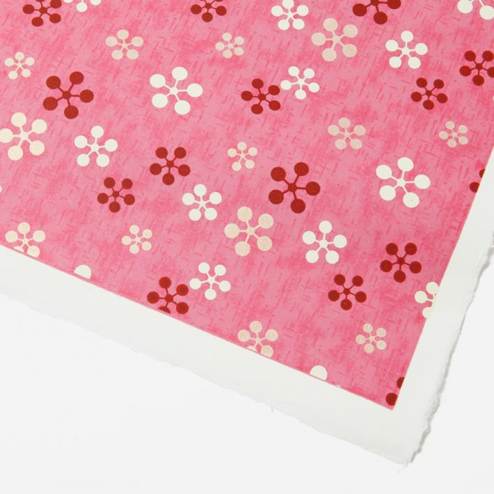 Akiko Yuzen-Papier Blumenmuster pink