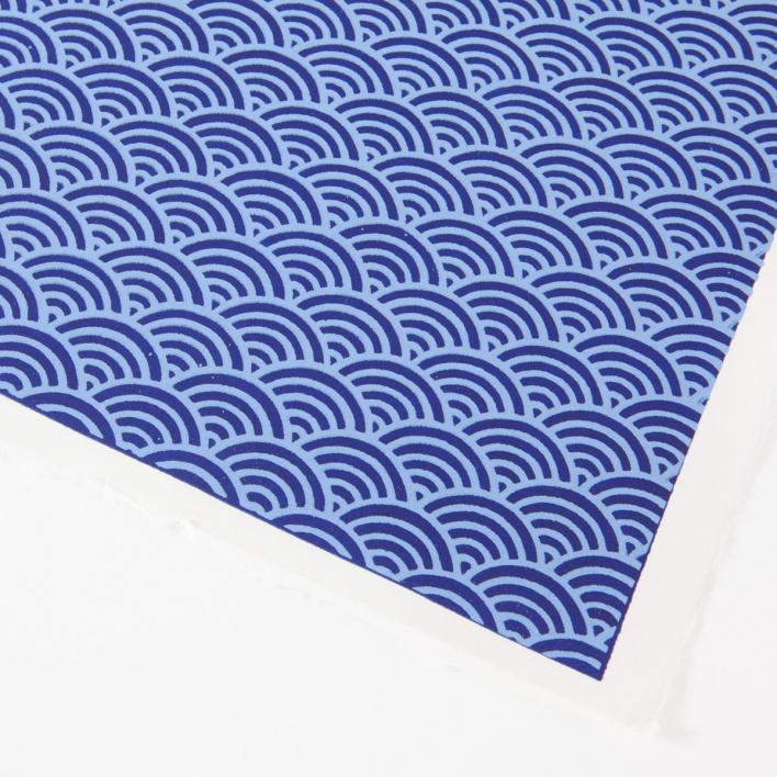 Akiko Yuzen Paper Dark Blue Waves