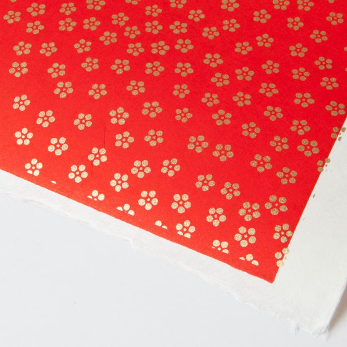 Akiko Yuzen Paper Golden Blossoms