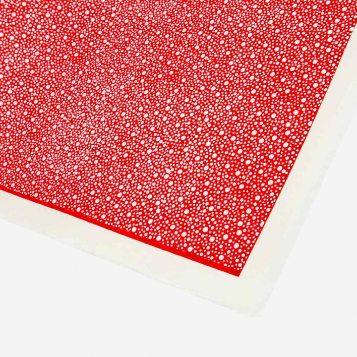 Akiko Yuzen Paper Dots on Red
