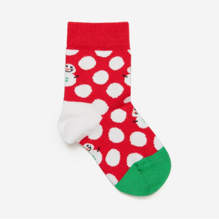 Happy Socks Kids Big Dot Snowman Socken 0-12 Monate