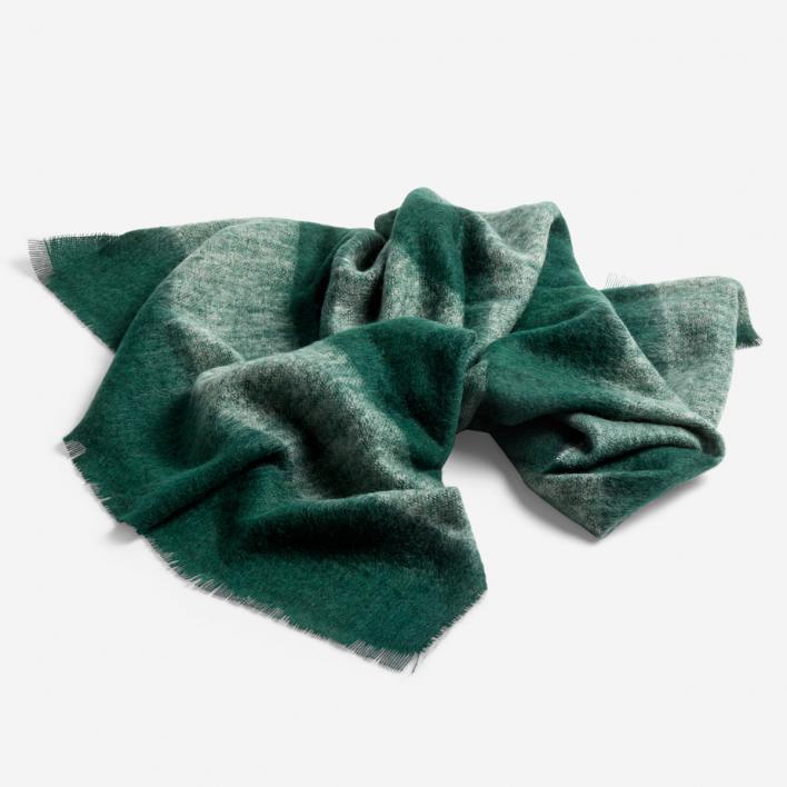 HAY Mohair Blanket Green Decke