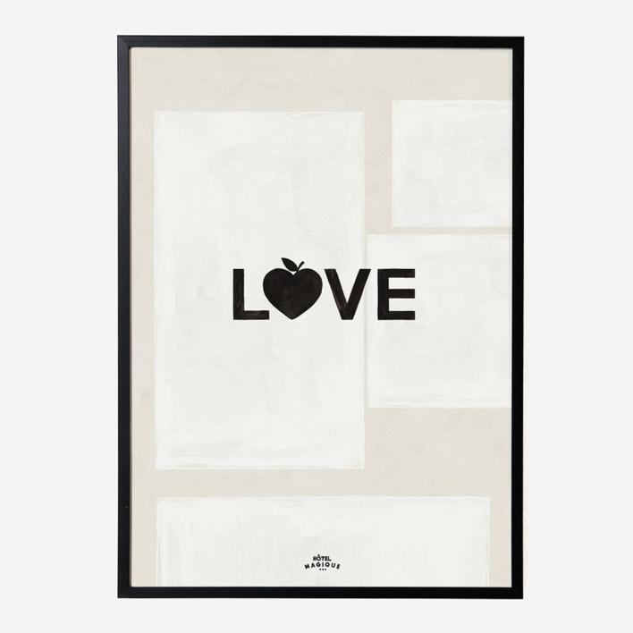 Hôtel Magique Love Art Print - A1 Rahmen Anthrazit