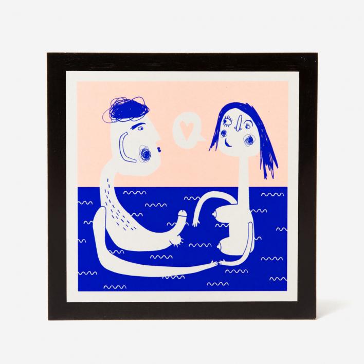 Knallbraun Underwater Love Siebdruck