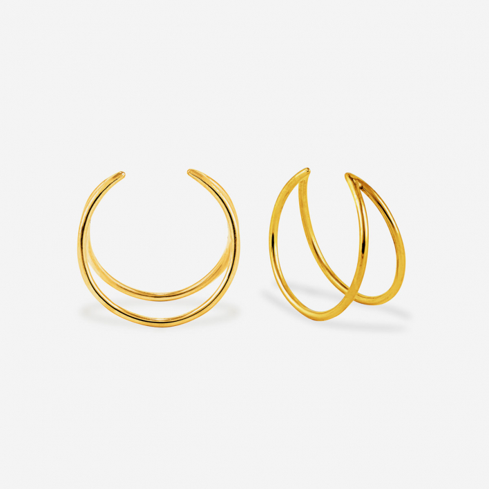 related by objects Lunar Ring - silver 925 gold-plated 53 53