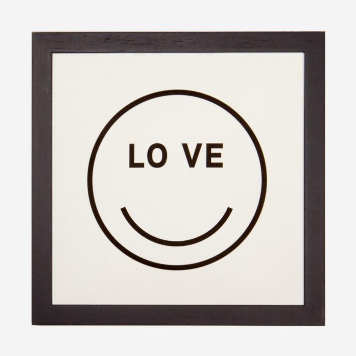 rikiki LOVE Smiley Letterpress Print