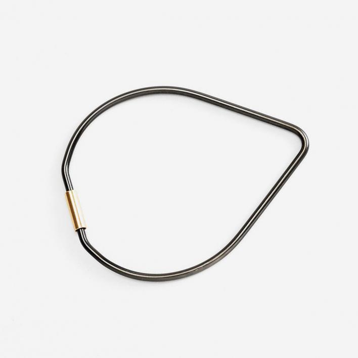 Areaware Contour Key Ring Drop - Black