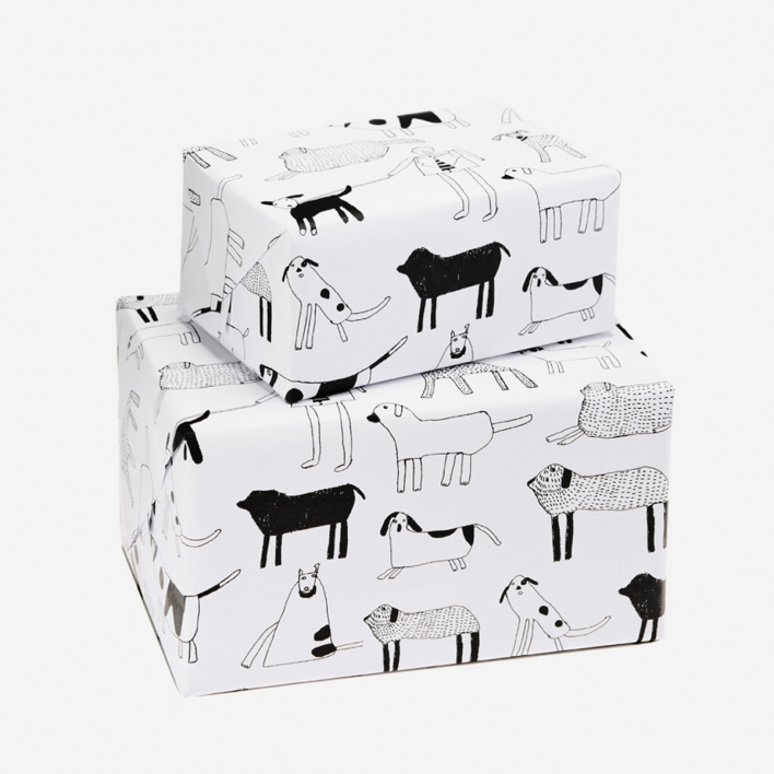 Arthouse Unlimited Dogs Geschenkpapier