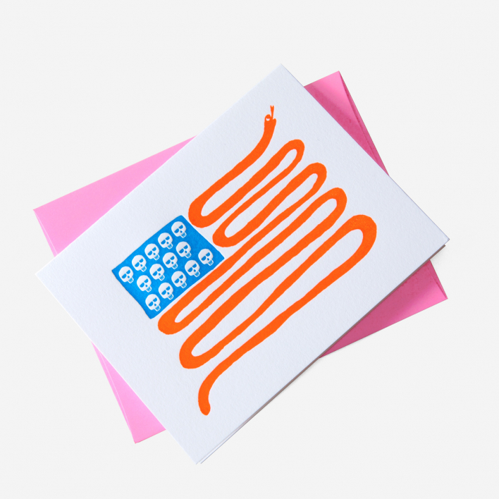 Ashkahn American Badass Grußkarte