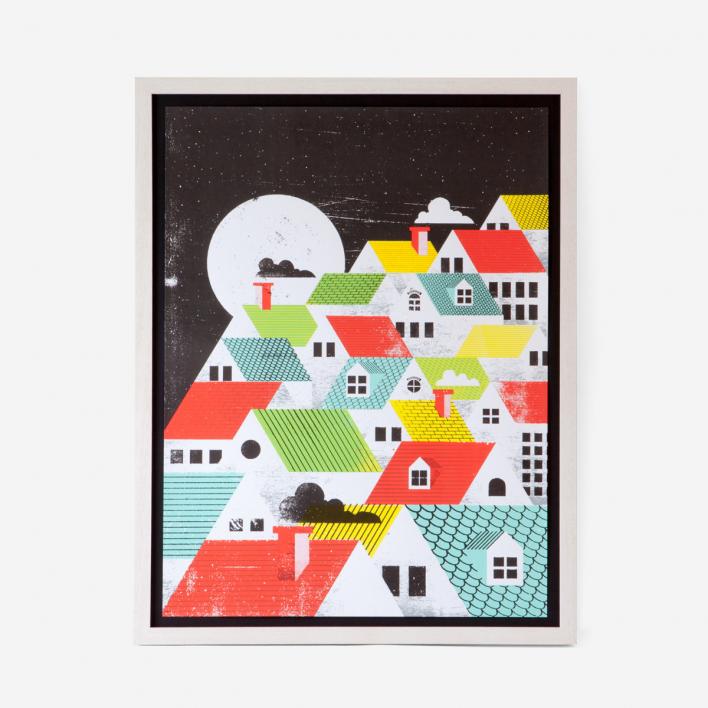 Doe Eyed Posters Roof Top Art Print Siebdruck