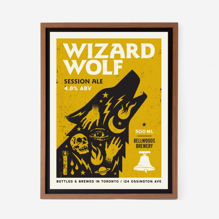 Doublenaut Wizard Wolf Siebdruck