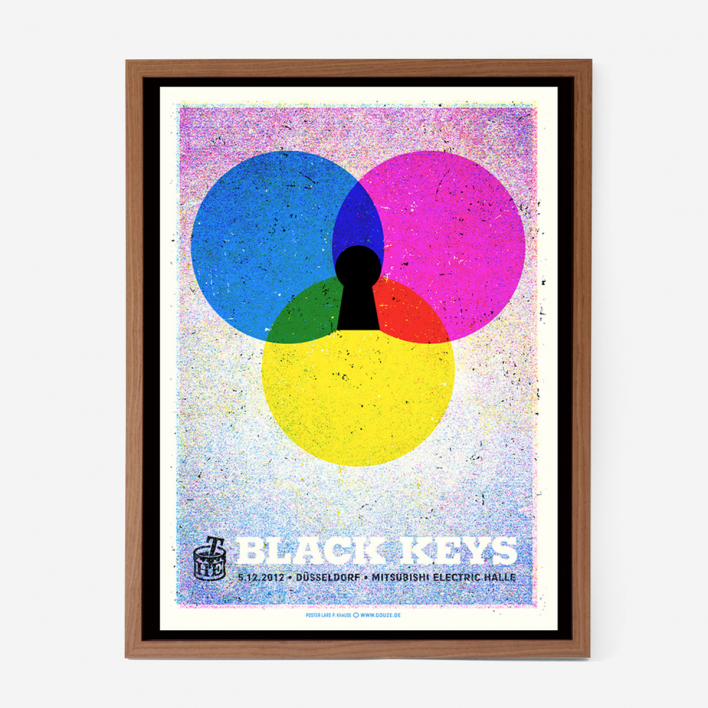 Douze The Black Keys Screenprint Gigposter
