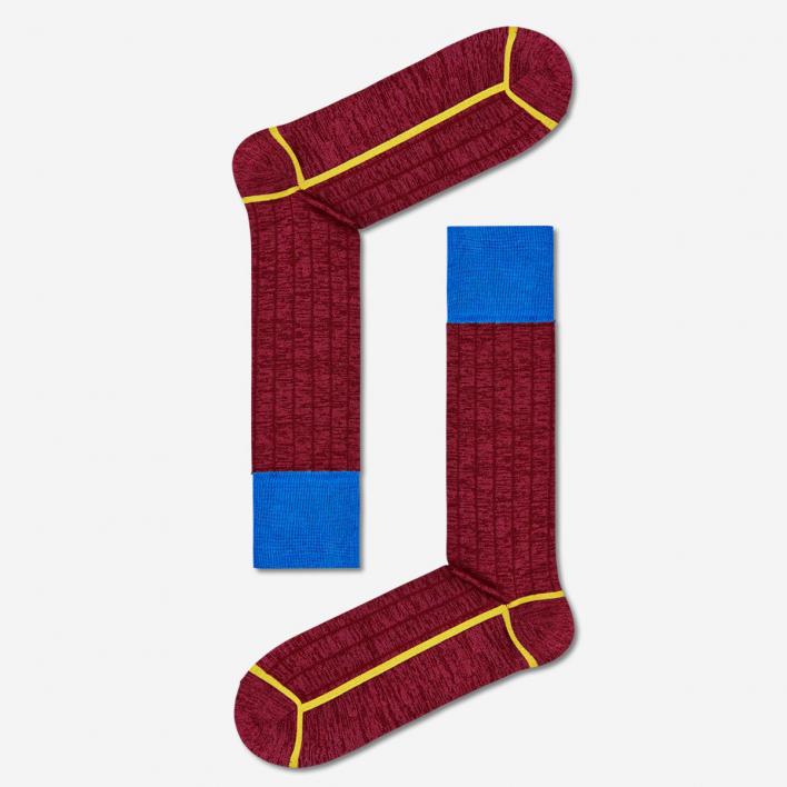 Dressed by Happy Socks Dressed Minimal Compact Socks - Burgundy