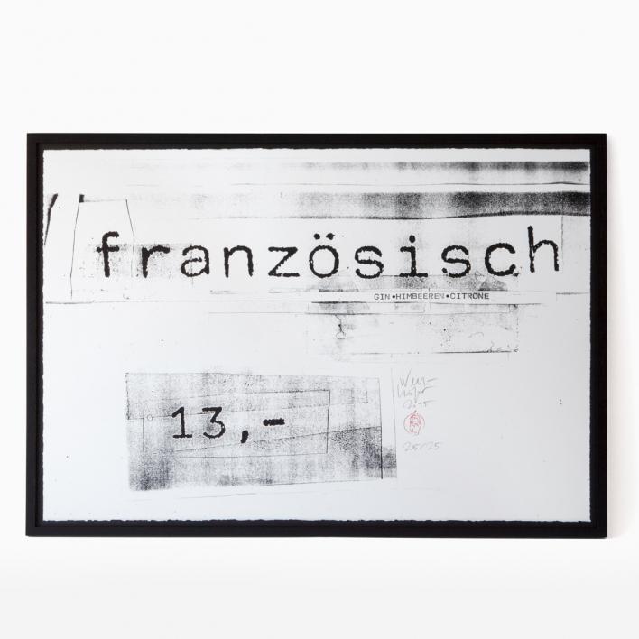 edition rikiki Erich Wellhöfer - Französisch Siebdruck