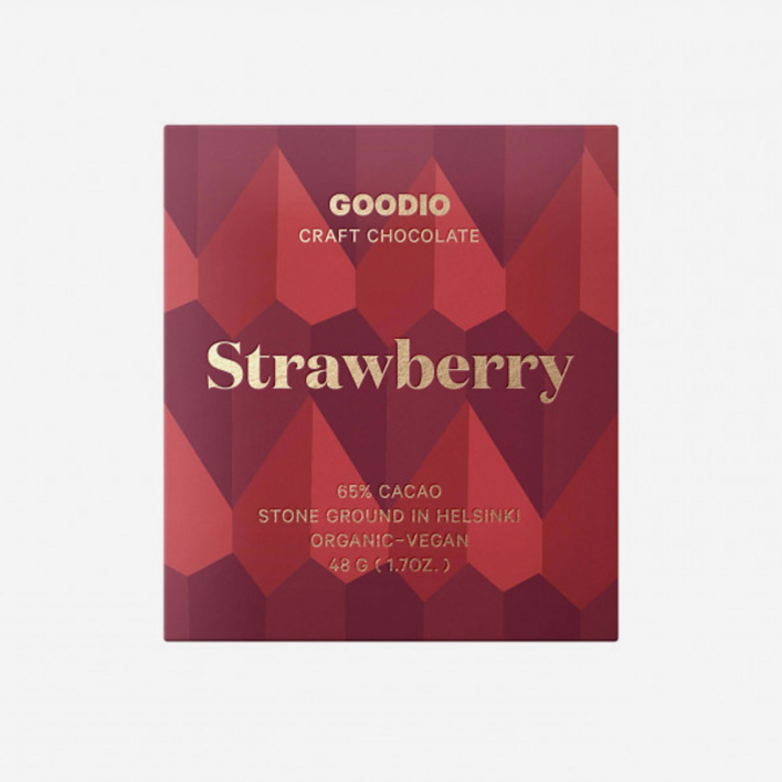 Goodio Strawberry 49% Organic Vegan Schokolade 48g