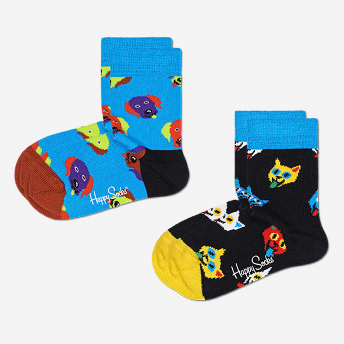 Happy Socks Kids Cat And Dog Socken 2-Pack