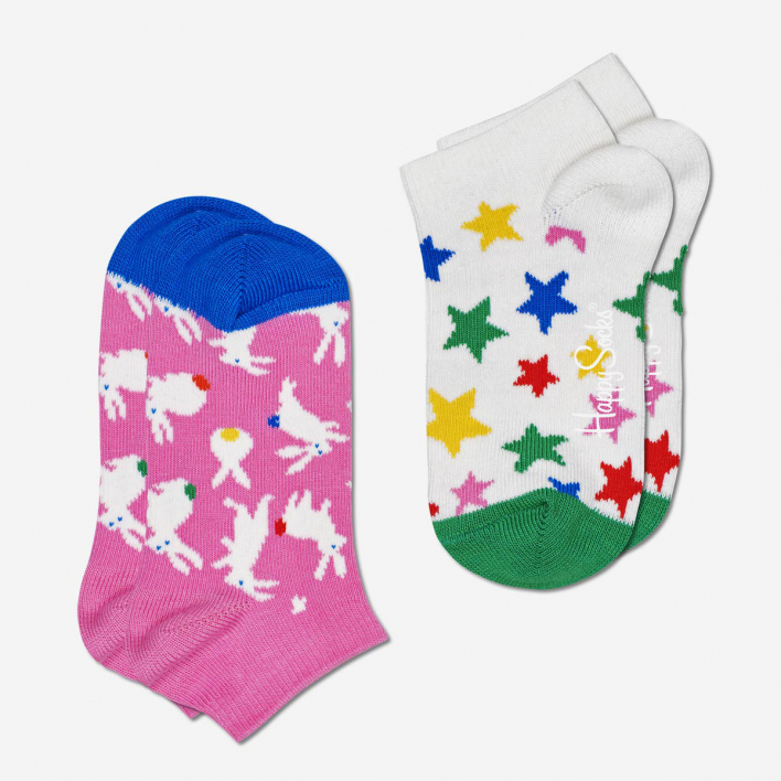 Happy Socks Kids Bunny Low Socken 2-Pack