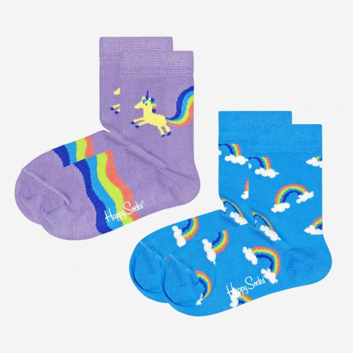 Happy Socks Kids Unicorn & Rainbow Socken 2-Pack 7-9 Jahre