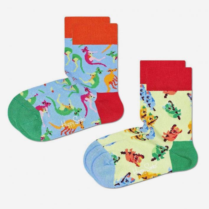 Happy Socks Kids Koala Bear & Kangaroo Socken 2-Pack 0-12 Months 0-12 Months
