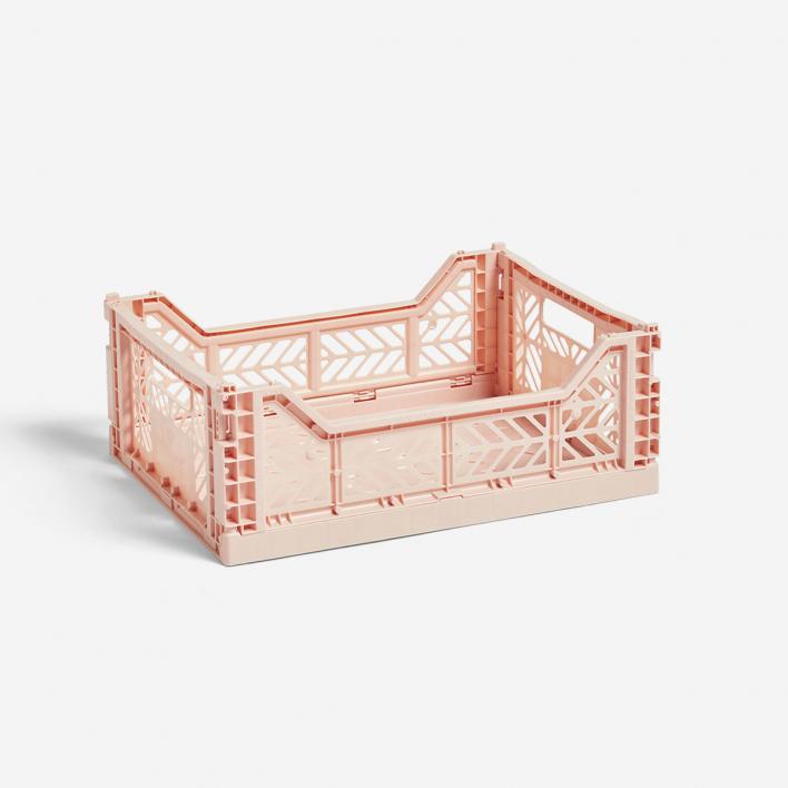 HAY Colour Crate M Soft Pink - Klappbox