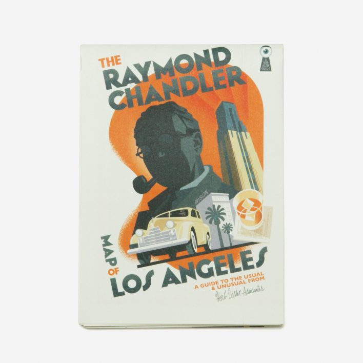Herb Lester Associates The Raymond Chandler Map Of Los Angeles City Guide