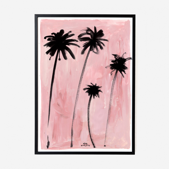 Hôtel Magique Palm Trees Art Print - A2 no frame no frame