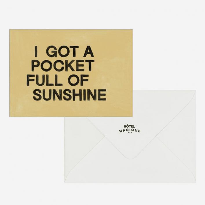 Pocket Full of Sunshine Grußkarte                          </a>                    </div>                    <div class=