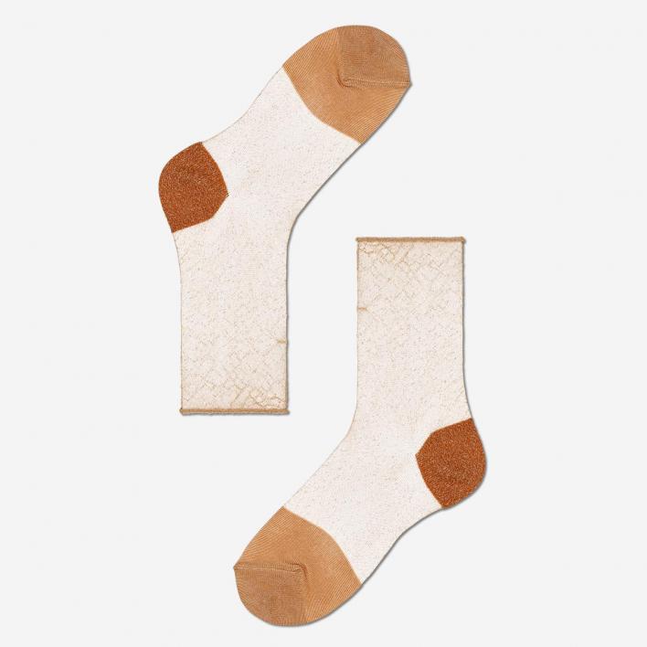 Hysteria by Happy Socks Franca Ankle Socks - Nude 39-41 39-41