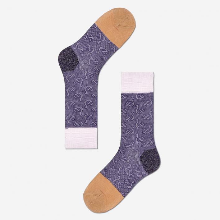 Hysteria by Happy Socks Lucie Crew Socken - Purple