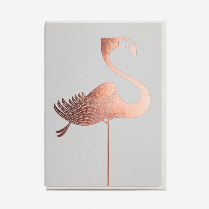 I Ended Up Here Foil Flamingo Grußkarte