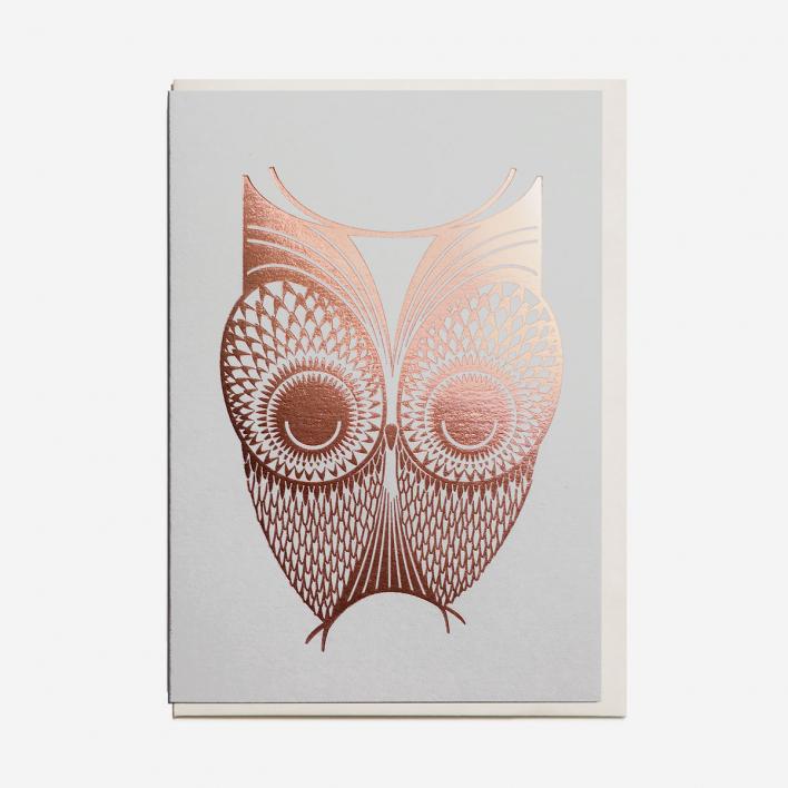 I Ended Up Here Foil Owl Grußkarte