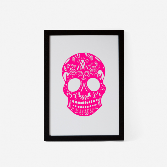 Josie Majetic Calavera Pink Mint #2 Screenprint