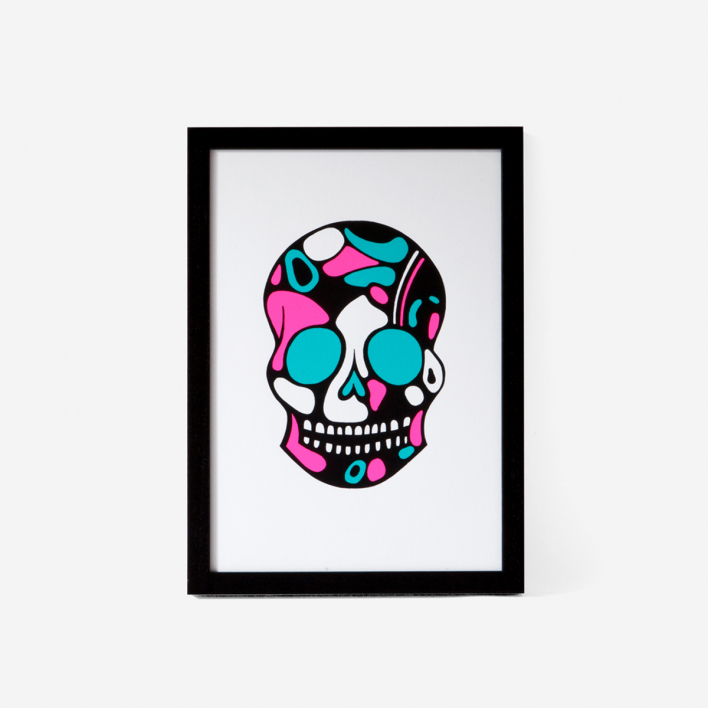 Josie Majetic Calavera Pink Mint #4 Screenprint
