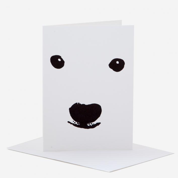 Kikisoso Polar Bear Greeting Card